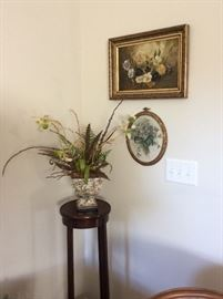 Beautiful florals.  Great fern stand.