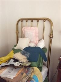Pair of gorgeous twin brass beds!!!
