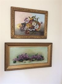 Vintage pansy paintings.