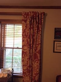 Beautiful curtains and rods