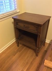 Vintage nightstand.  Has dresser with mirror and bed