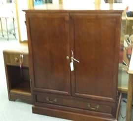 "ENTERTAINMENT CENTER / ARMOIRE... CHERRY ""WOOD"".....GREAT FOR ANY ROOM!...SUPER DISCOUNTED PRICE....PERFECT CONDITION!!!"