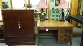 TONS OF HIGH-QUALITY....PERFECT CONDITION FURNITURE PIECES.  DESKS, ENTERTAINMENT CENTERS, TABLES, ARMOIRES, LAMPS