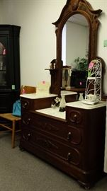 LOVELY 1880 VICTORIAN DRESSER AND MIRROR!!!  For Hundreds of PICS OF ITEMS AVAILABLE..GO TO: www.EVERYTHINGUNEED.NET   :)