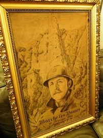 Tapestry of a soldier from Belgium