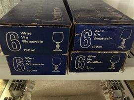 Claudia crystal wine goblets