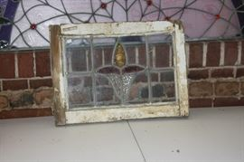 Antique stainglass panel