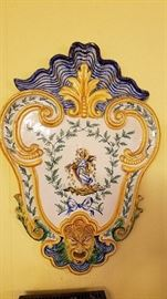 Ornate Italian Painted Wall Plaque