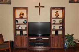 Entertainment center, TV, home décor