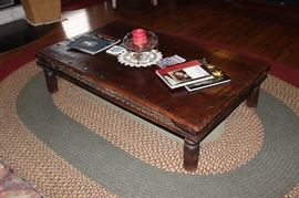 custom made coffee table, great detail