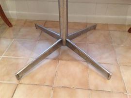 Retro 70'S Butcher Block Table Chrome Pedestal Base Detail  165.00