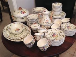 French Pottery - Hand Painted - 77 Pieces  350.00