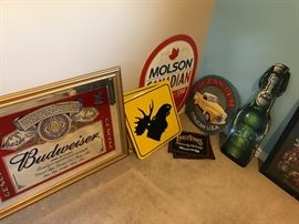 Lots of Beer and Liquor Tins