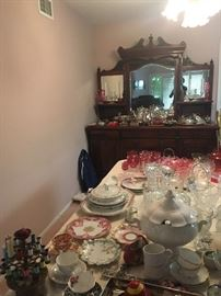 fine china, cranberry glass, bone china, english chintz
