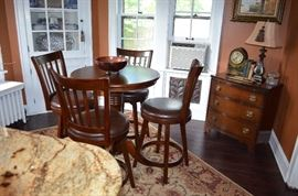 Pub table with chairs
