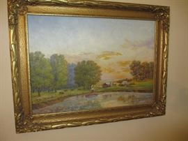 original oil painting by Otto Buller of Highland Park