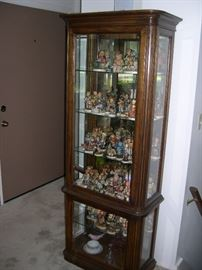 Curio Cabinet***Vintage Goebel Hummels