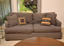 Contemporary Upholstered Loveseat / Sofa