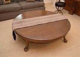 Vintage Round Wood Coffee Table
