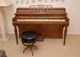 Upright Piano with Stool