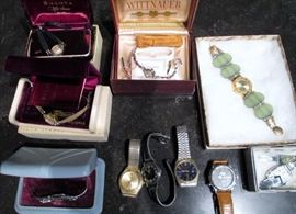 Vintage watches including Bulova