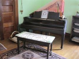Ludwig baby grand piano