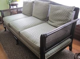 sofa with pressed cane