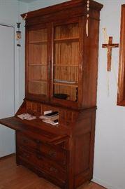 Antique bookcase desk.
