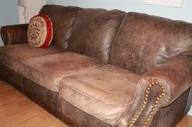 Leather sofa. No rips or tears.
