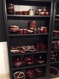 brown drip ware -- McCoy, Hull, etc