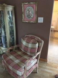2 plaid chairs
