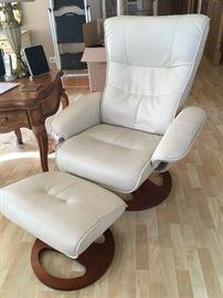 Benchmark recliner & ottoman #1