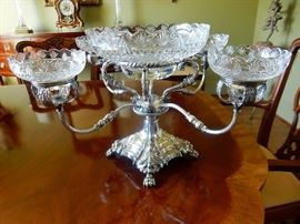 Fine antique epergne