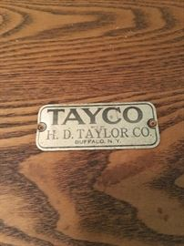 Antique Wooden Ice Chest. Keystone Copper Steel! Taco HD Taylor Co. Made in Buffalo NY