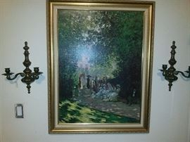 Vintage oil Painting signed artist $450 50% off