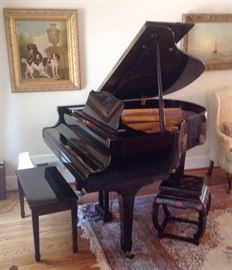"Young Chang Baby Grand Piano and Bench, Series G-157, 65"" EBONY (Black Lacquer), Young Chang Baby Grand Piano and Bench, Series G-157, 65"" EBONY (Black Lacquer), Like new, Excellent Condition"
