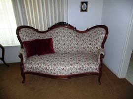 A Beautiful Victorian Parlor Setee