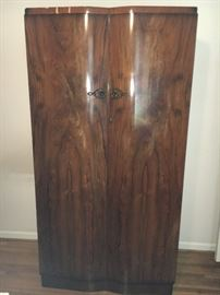 Shrager Art Deco furniture, made in England--Armoire, dresser, night stand.