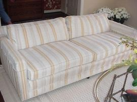 Henredon sofa close up, pair of these