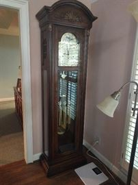 Very nice Seth Thomas grandfather clock, recently refurbished ($$).                                                              Marked on the back with:                                                     4482  1163                                                                            418-001 28