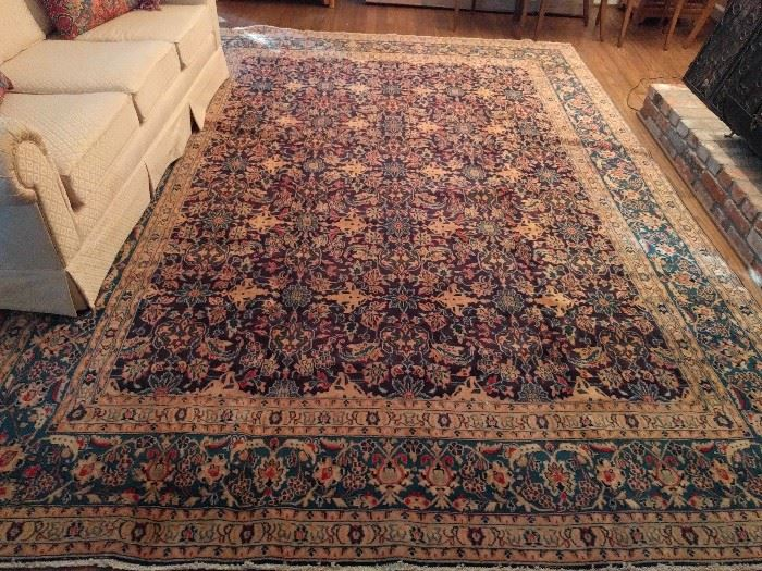 "Beautiful Persian Kashan, 100% wool, hand woven, measures 11'-10"" x 8'-5"""