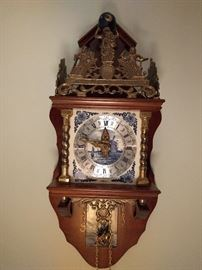 Woo hoo! We're on a roll here!                                             How about a Delft wall clock? You won't see one of these very often!