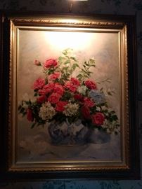 Ohh la la! Vintage floral still life.                                             Is there still life left in this thing?