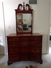 Very elegant mahogany chest, by Kling Furniture Co., Mayville, NY