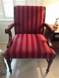 Very nice, traditional upholstered armchair, by Mark David, High Point, NC.