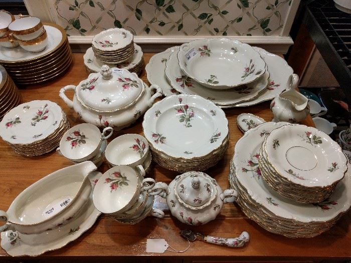 54-Piece set Rosenthal (Germany) Pompadour Rose china