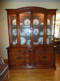 Large Lighted china cabinet