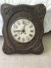 Antique porcelain face clock