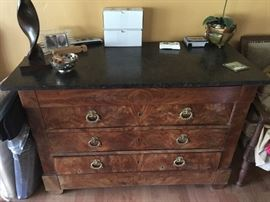 Another imported French marble top chest