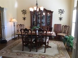 Mainland Smith Dining Room Table with Six Chairs